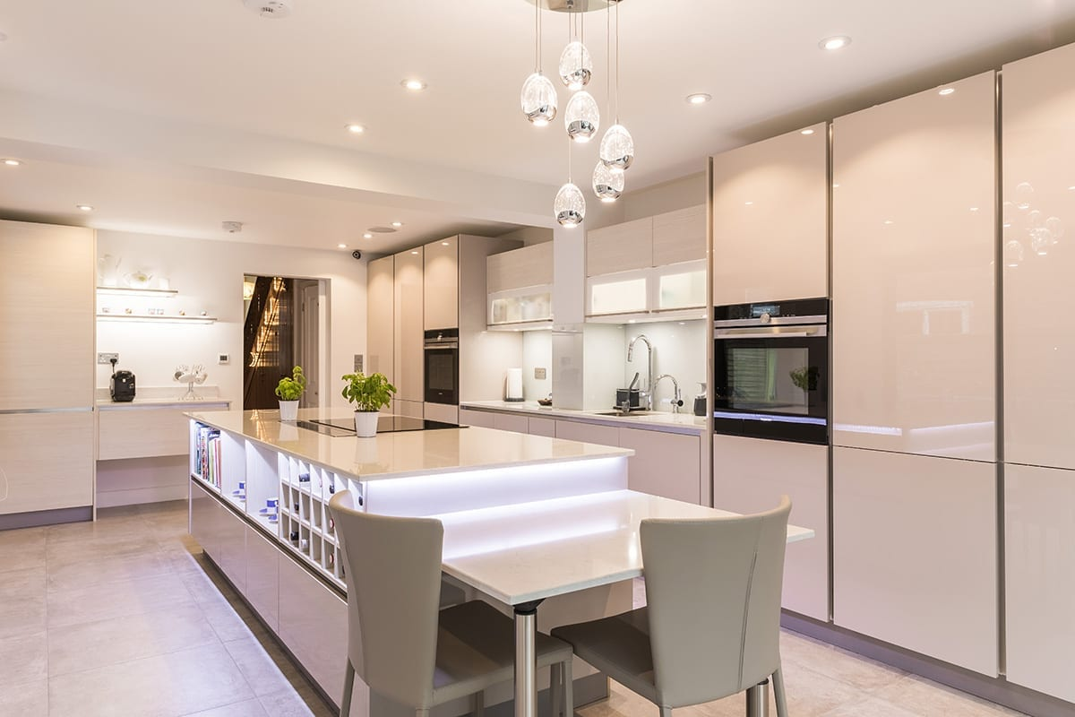 2. Cashmere gloss lacquer kitchen finish - Kavanagh Designs, Worthing