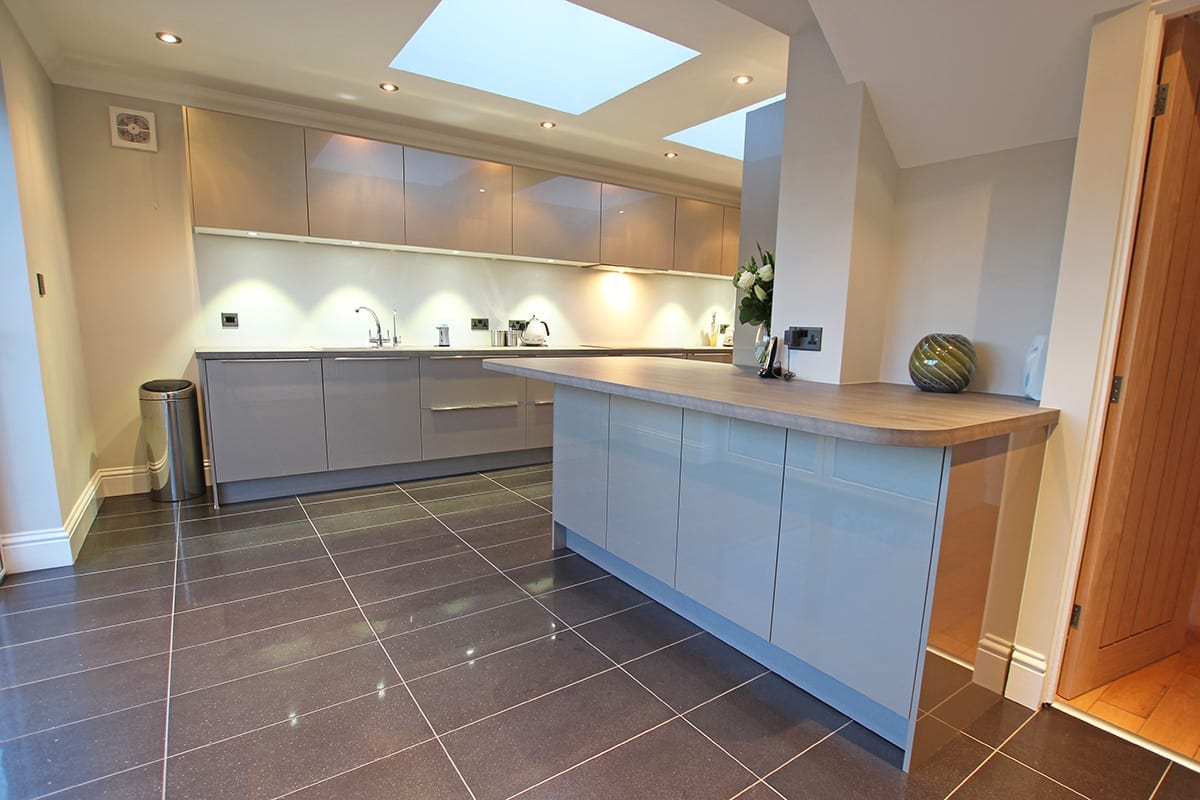 Luxury Laminate Worktop With Curves - Kavanagh Designs, Worthing