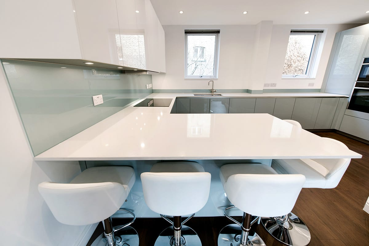 White Quartz Worktop 2 - Kavanagh Designs, Worthing